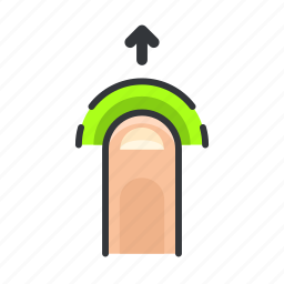 arrow, finger, gesture, move, touch, up icon