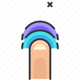 finger, gesture, tap, touch, twice icon