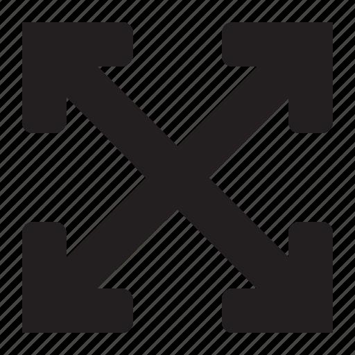 arrow, enlarge, expand, fullscreen, move icon