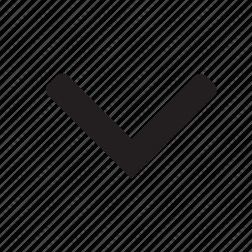 arrow, chevron, direction, down, point icon