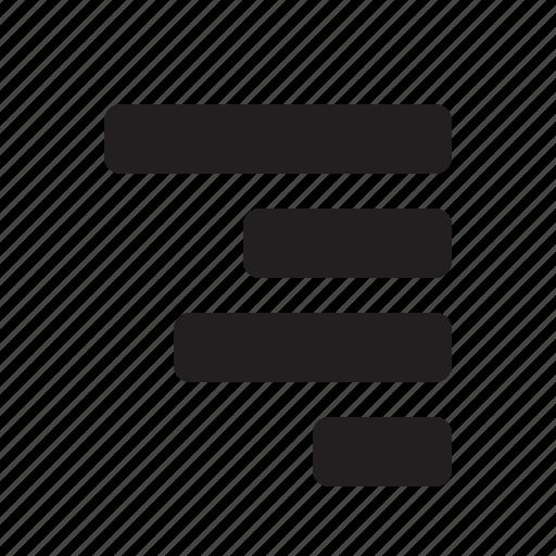 align, editor, right icon