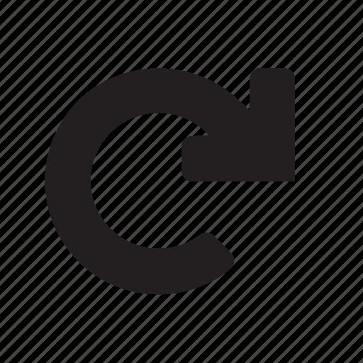 arrow, editor, redo icon