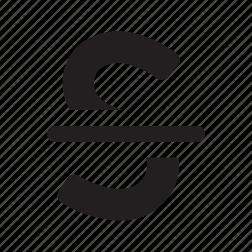 editor, strikethrough icon