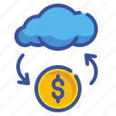 business, cloud, coin, finance, fintech, money, online