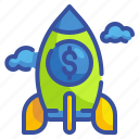 business, finance, fintech, money, rocket, spaceship, starup
