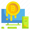 bitcoin, business, cryptocurrency, finance, fintech, money, online icon