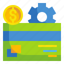 business, card, credit, finance, fintech, money, technology icon