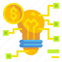 business, coin, finance, idea, innovation, money, online icon