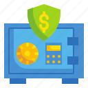 business, finance, fintech, money, safebox, save, security icon