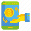 business, finance, mobile, money, online, payment, transfer icon