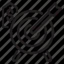 arrow, business, finance, fintech, money, target icon