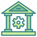 banking, building, business, finance, money, online, technology icon