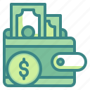 business, coin, finance, fintech, money, wallet icon