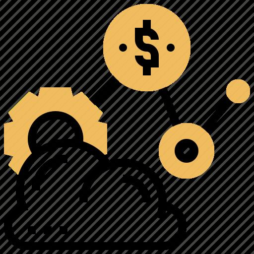 cloud, saas, service, software, storage icon