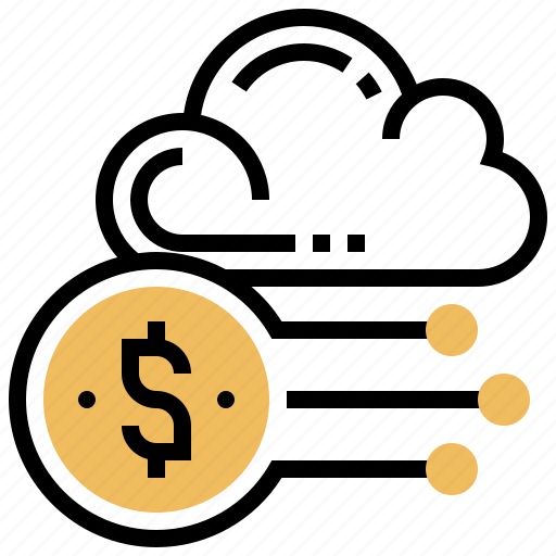 account, cloud, data, financial, storage icon