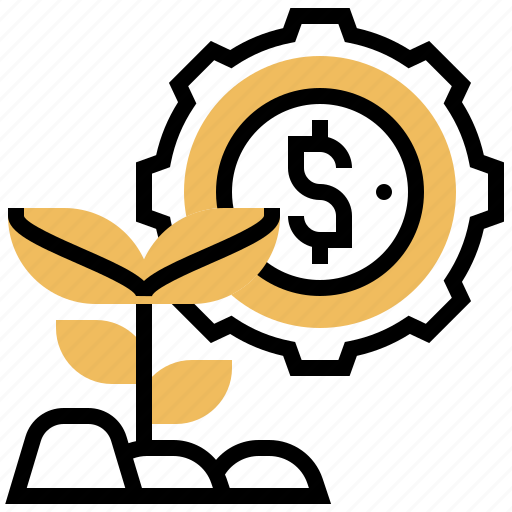 benefits, develop, growth, investment, strategy icon