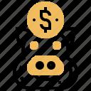 budget, deposit, earning, saving, wealth icon