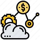 cloud, saas, service, software, storage icon