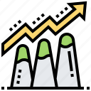 analysis, chart, growth, profit, success icon
