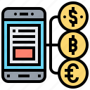 application, banking, internet, mobile, money icon