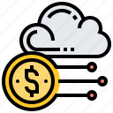 account, cloud, data, financial, storage icon