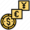 currency, exchange, international, money, trade icon