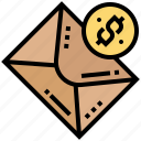 banking, email, internet, transaction, transfer icon