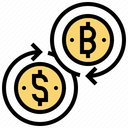 bitcoin, cryptocurrency, exchange, mining, trade icon