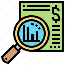 analysis, monitoring, report, results, summarize icon