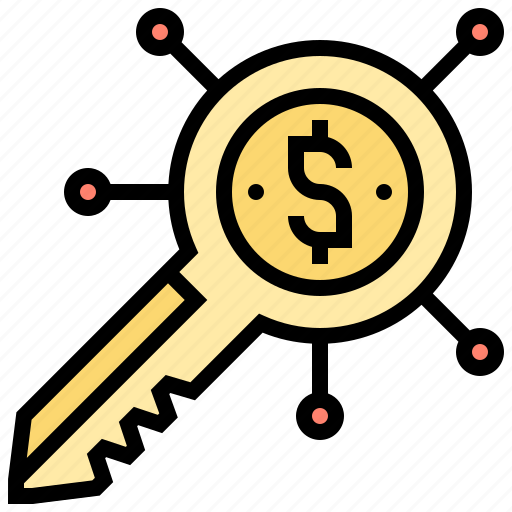 business, connection, key, strategy, success icon
