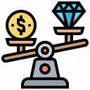 balance, money, price, value, worth icon
