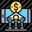 application, banking, mobile, money, transaction icon