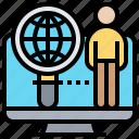 identity, internet, login, privacy, verification icon