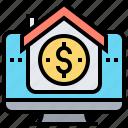 banking, financial, online, statement, transaction icon