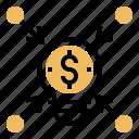 analysis, brainstorming, communication, crowdfunding, enterprise icon