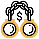 anti, bribery, illegal, laundering, money icon