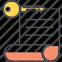 asymmetric, asymmetric key, key icon