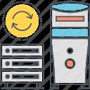 data centre, data server, database, hosting icon