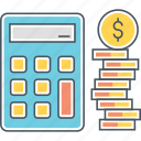 accounting, budgeting, calculator, finance icon