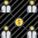 crowdfunding, p2p, peer to peer, peer to peer lending icon
