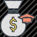 education funds, education savings, scholarship icon