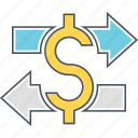 exchange, money exchange, money transfer icon