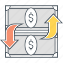 funds, funds transfer, transfer icon