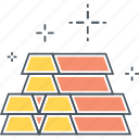 gold, gold bars, ingots icon