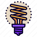 bulb, eco, idea, innovation, light, power, technology icon