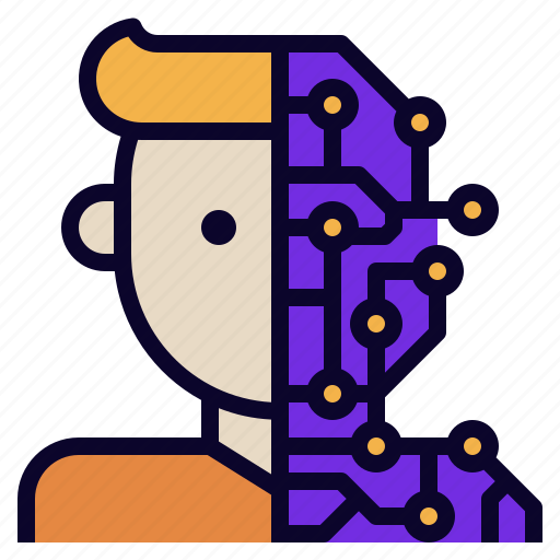 ai, artificial, human, intelligence, learning, machine icon