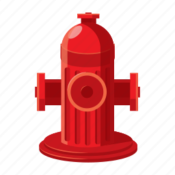 cartoon, equipment, fire, hose, hydrant, pipe, safety icon