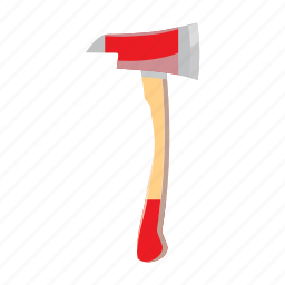 axe, cartoon, equipment, fire, safety, tool, work icon