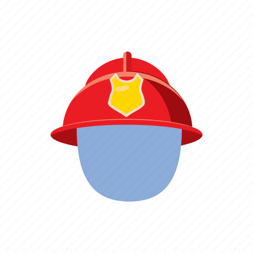 Cartoon, fire, firefighter, fireman, helmet, mask, protection icon - Download on Iconfinder