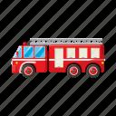 car, cartoon, emergency, engine, fire, truck, vehicle